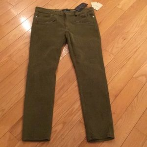 Lucky Brand Green Skinny Cords